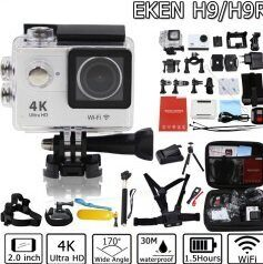 Экшн-камера EKEN H9 White Ultra HD 4K, WiFi, 16Gb, Waterproof 30 m