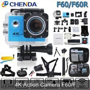 Экшн-камера CHENDA F60 Blue Ultra HD 4K, WiFi, 32Gb, Waterproof 30 m